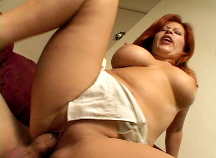Colored Hair Mom Getting Fucked In Reverse Cowgirl Position