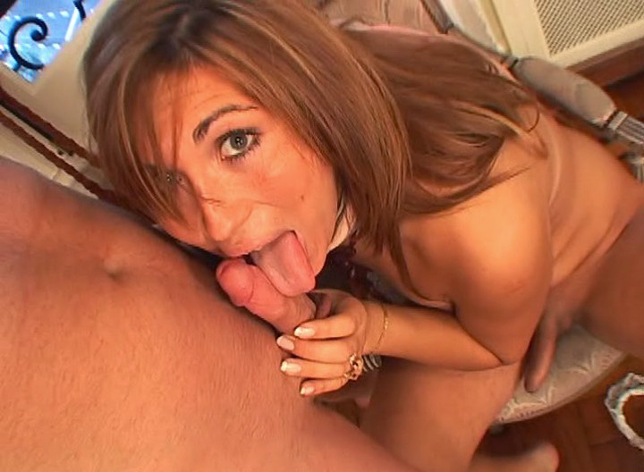 Horny transsexual Eats Some Cock & Gets Ass Plugged By Cock