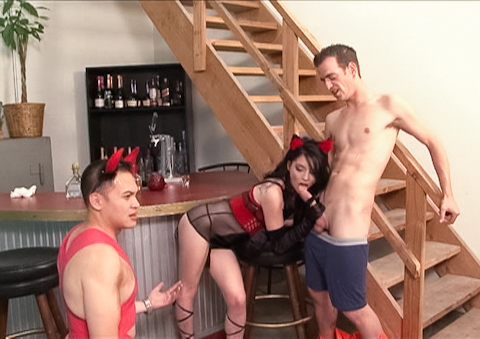 Woman turns into whore & fucks in front of her stupid hubby