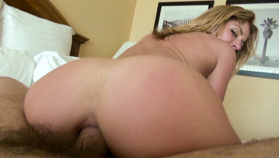Sheena loves filling her mouth and ass with big cock.