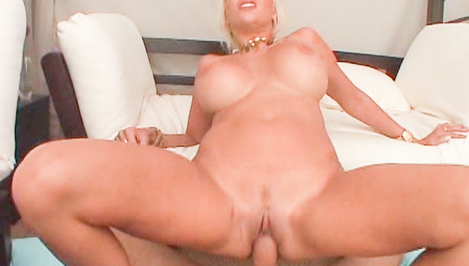 Wild blonde Puma Swede gets plugged and swallows large load!