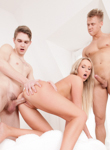 Bicurious couples 08. Two bicurious guys have threesome with