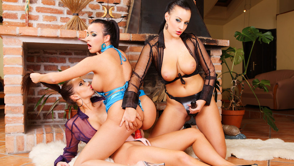 Strap On Fun with Cindy, Carmen and Esmeralda