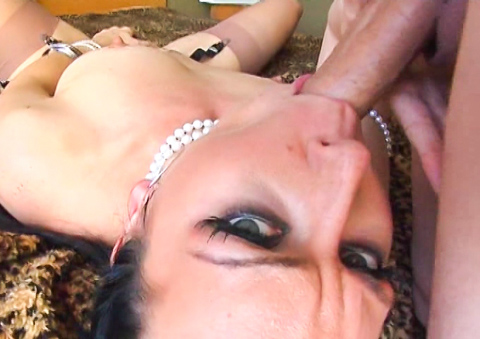 Horny cunt Julie Night is a sexy slave of big dicks and cum.