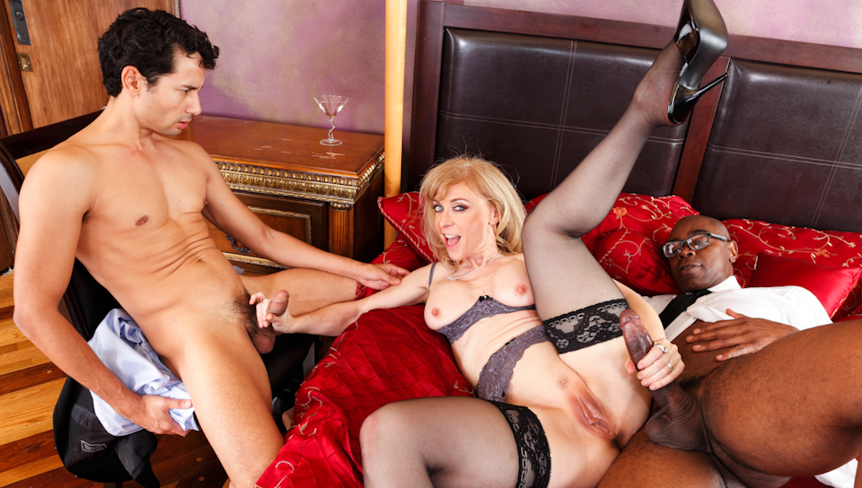 Nina Hartley & Sean Michaels - Interracial Anal MILFs