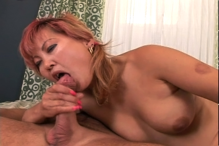 Horny Asian Mom Enjoys Sucking A Big Cock & Getting A Facial