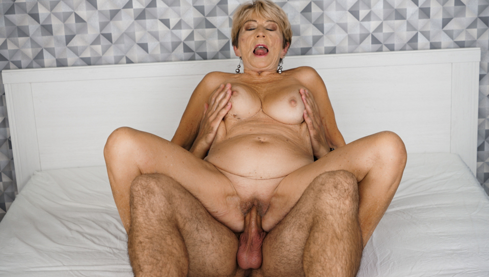 Horny granny is craving for young and hard cock