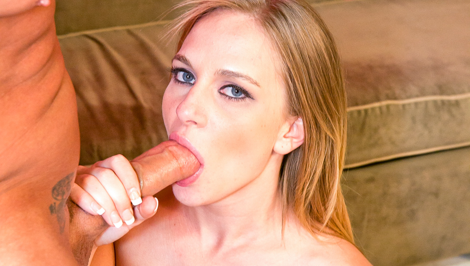 Blonde Katie Zane easily shoves that cock down her throat