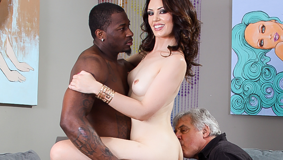 Sarah Shevon fucks a black guy in front of her husband!