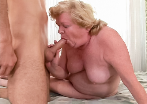 She may be old, but she sure knows how to grind a hard cock!