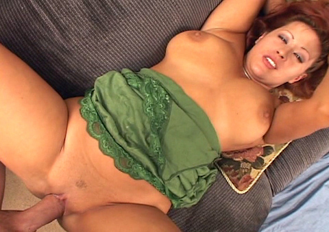 Latina MILf is having sex in the living room just for fun