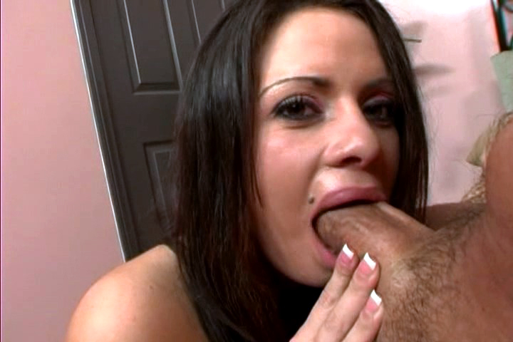 Horny Bitch Enjoys Gagging Cock & Drinking A Big Load Of Cum