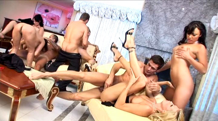 Beautiful chicks getting fucked in that amazing orgy in here