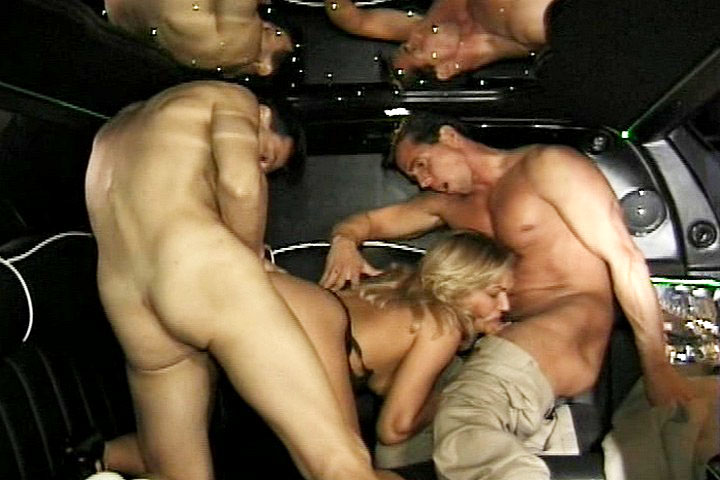 3some ends with Peter and Lonnie fucking hard in limousine