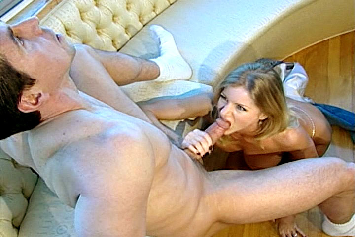 Peter cumming on splendid boobs of a delicious MILF in here