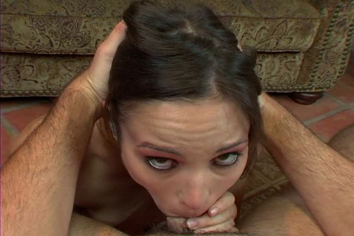 Slut Amber Rayne Shows Deepthroat Talent On Camera