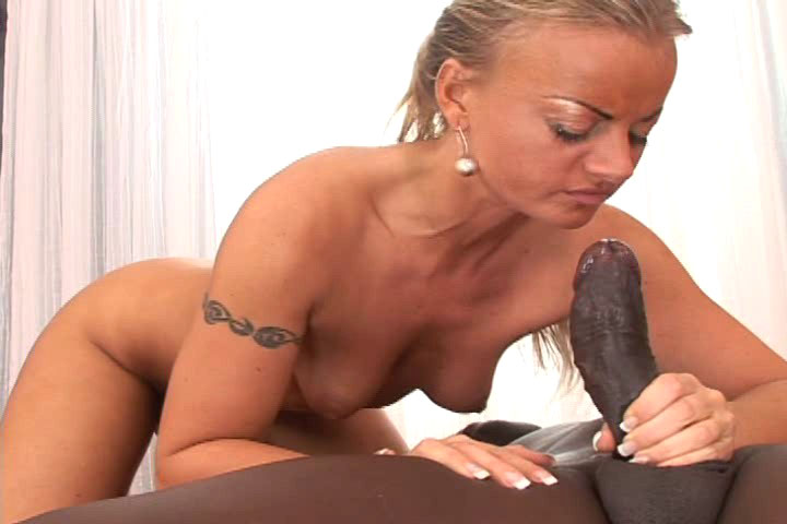 Slut Sabrin Blows A Big Massive Black Dick & Gets Facial
