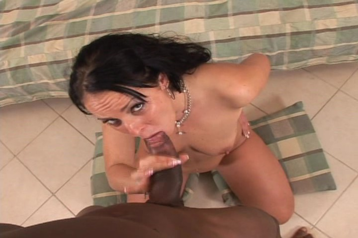Horny Mom Plays With Her Wet Pussy & Sucks A Big Black Dick
