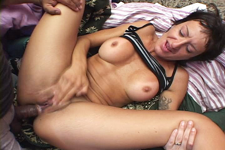 Lonely MILF accepts to be assfucked hard in hot threesome