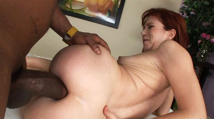 Slut gets her ass rammed with enormous monstrous black cock