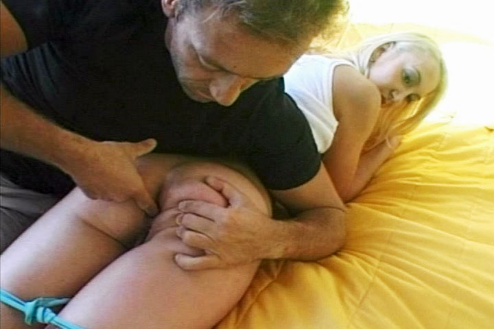 Lovely horny blonde gets her drooling mouth filled with Rocco`s dong here