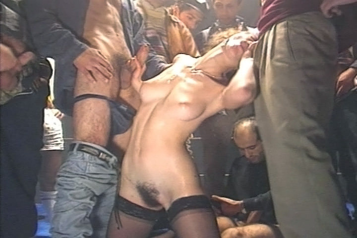 Horny Slut Gets Fucked Really Hard & Gets Facial In Gangbang