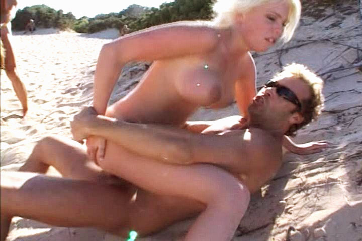 Exhibitionist sluts playing on beach decide to fuck hardcore