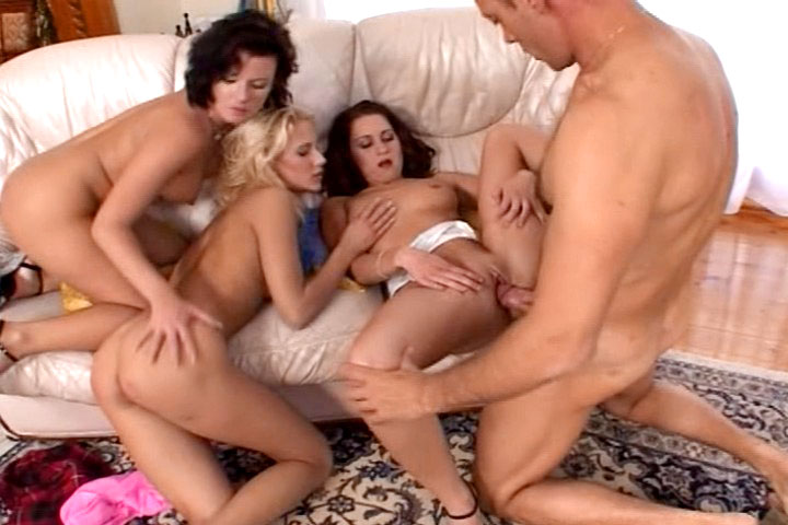 Lucky Rocco fucks three amazing and horny broads ! 