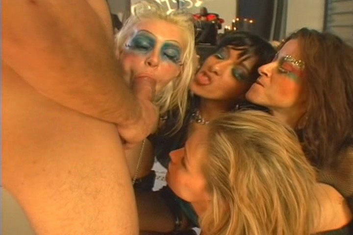 Awesome Gangbang Where Sluts Getting Fucked In The Ass
