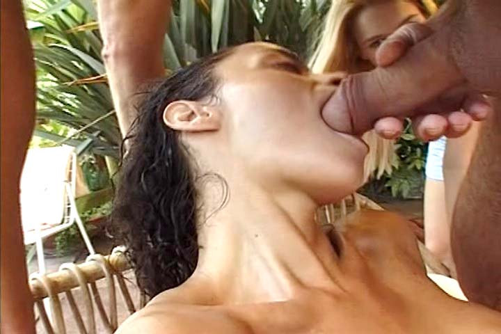 Two hot sluts get double anal fuck by huge cocks in here