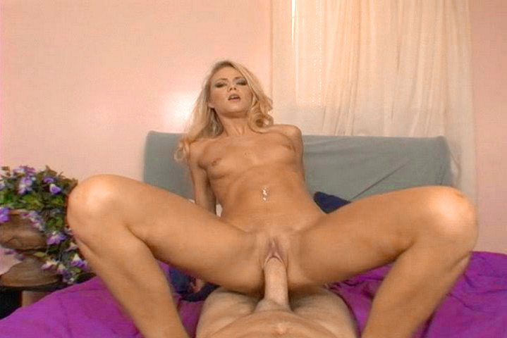 Horny blonde with small natural tits likes a good cock