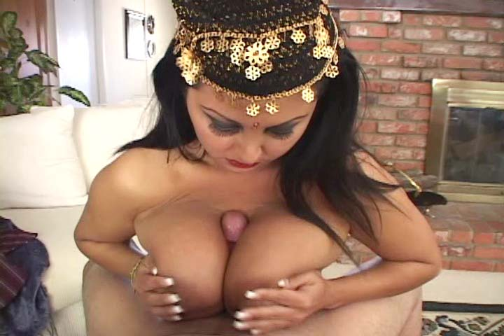 Hindou show off her big tits and gets pounded hard !