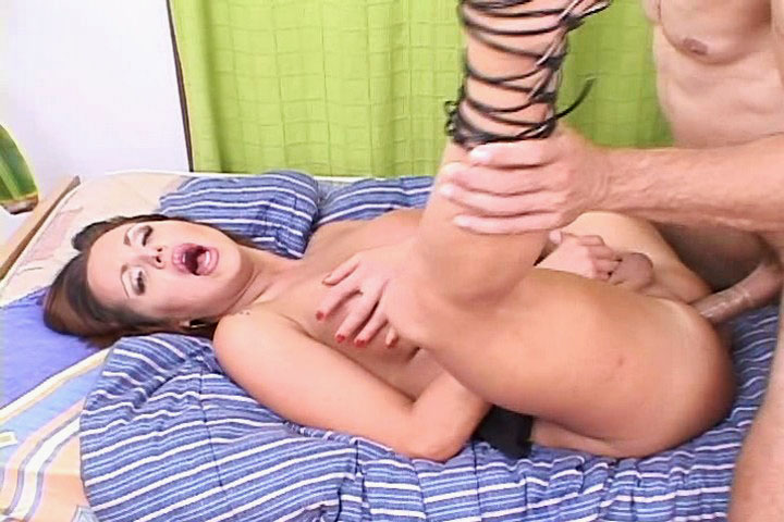 Crazy transexual having some sex fun with two horny studs