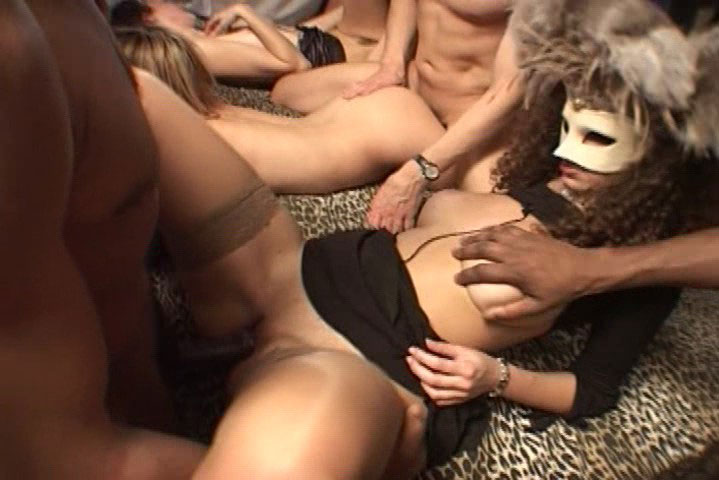 Very hot & wild masked orgy with plenty of anal & cumshots!