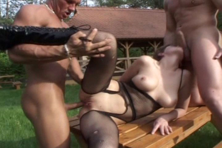 Nasty girl demands to get fucked and gets 2 big muscle boys!