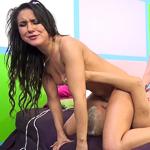 Horny Kylie Kalvetti and Sara Jay share Porno Dan's cock!