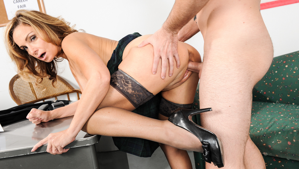 Hot and Horny teacher if fucked by student in the classroom.