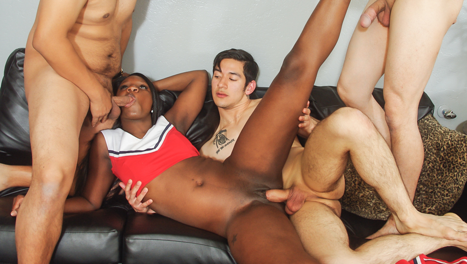 Black Cheerleader Gang Bang #27