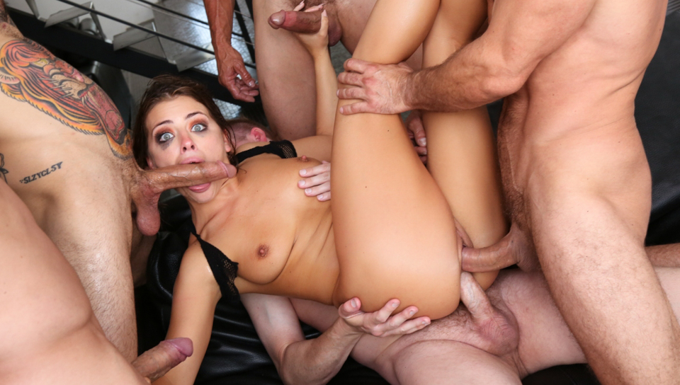 Tommy Gunn & Mark Wood & Mr. Pete - Squirting Adriana's Double-Anal Orgy