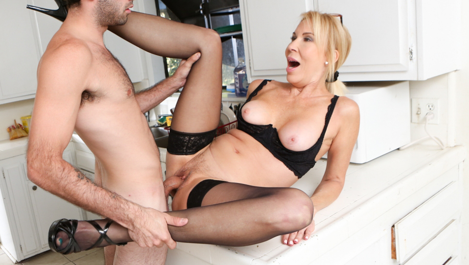 Hot granny Erica Lauren gets fucked her young loan officer
