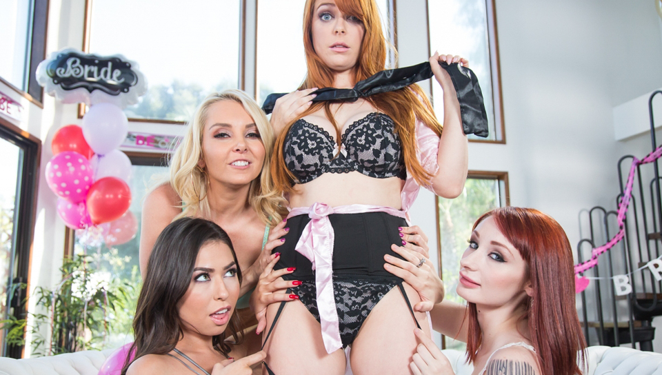 Violet Monroe & Penny Pax & Aaliyah Love - Strap-On Stories: Gangbang Bachelorette