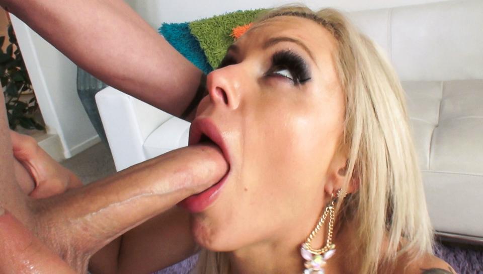 Eric John & Nina Elle - Busty Babe's Deep-Throating Boob Fuck