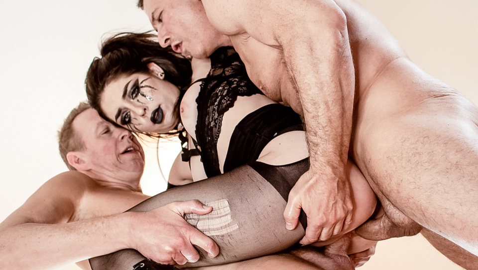 Goth slut Keira Croft receives rough DP from stepdad  pal