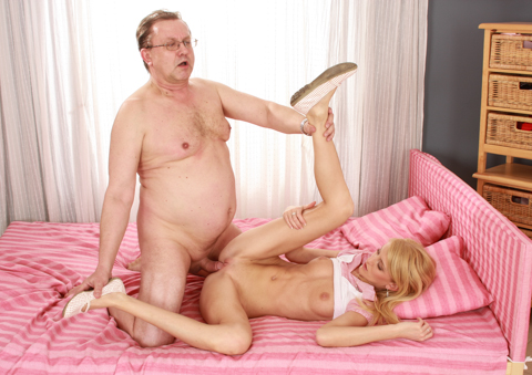 This is a classic clash of old versus young in kinky action