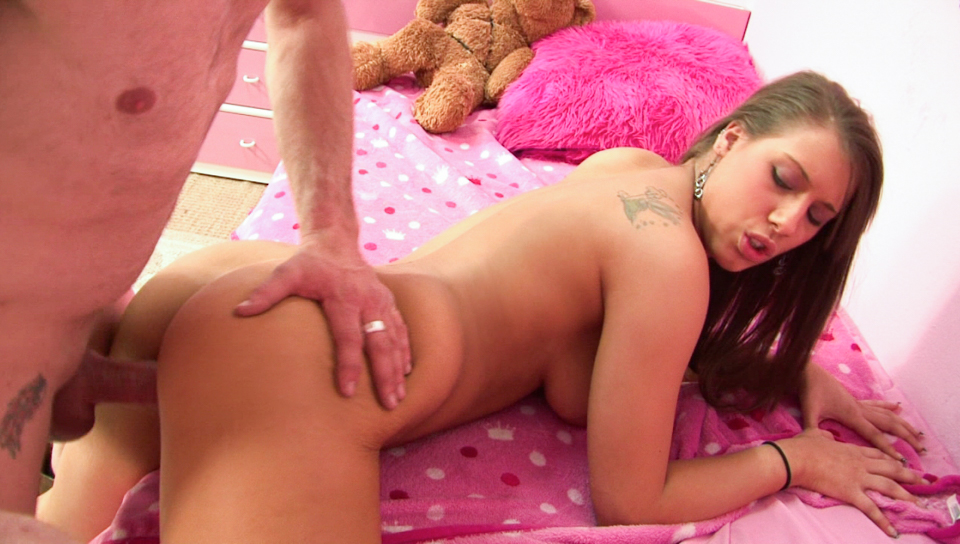 Sexy naughty babysitter Natasha Vega gets fucked hard