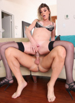 Tranny prostitutes 76. Delicate tranny whore gets banged by a