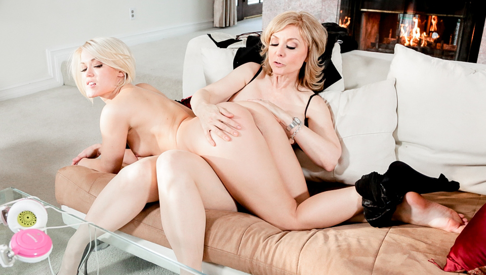 Nina Hartley & Ash Hollywood & Teal Conrad - Mother Lovers Society #09