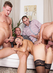 4 on 1 gang bangs 02. Hot brunette Billy Star is getting have sexual intercourse heavy by 4 cocks!. Mark Zicha,Tarzan,Neeo,John Parker,Billie Star. Hardcore,Anal,Deep throat,Brunette,Double Blowjob,Gang Bang