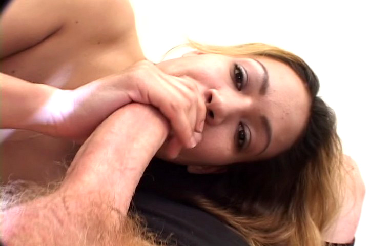 Asian whore gets pounded by that big dude who fucks her hard