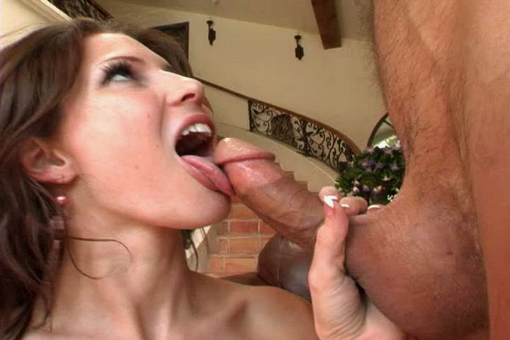 Georgeous brunette loves putting a dick deep in her throat